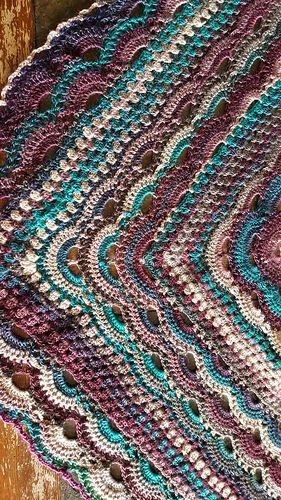 Granny meets virus shawl