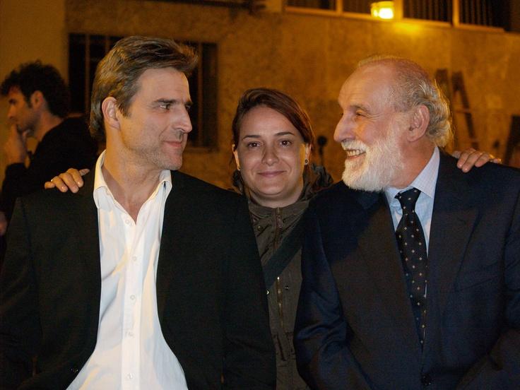 Paloma Mora con Alberto San Juan y Carlos Alvarez Novoa