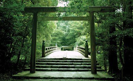 Path at Ise Grand Shrine