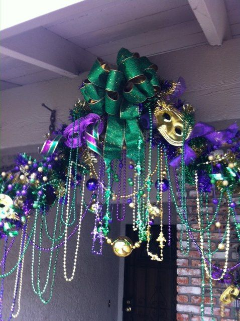 Mardi Gras Decor Bobby Did It Pinterest Entrance