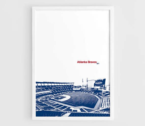 Atlanta Braves SunTrust Park Stadium  A3 Wall Art Print