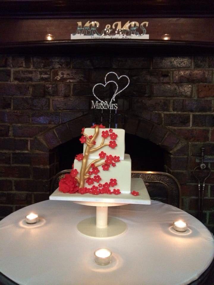 Wedding cake - white chocolate and raspberry mudcake