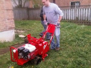 This Couple From I Heart My Shoes Rented A Sod Cutter From Home Depot