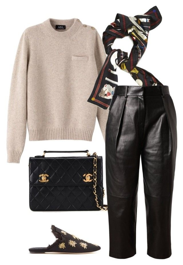 """Untitled #691"" by szudi on Polyvore featuring Chanel, Hermès, Alexander Wang and Sanayi 313"