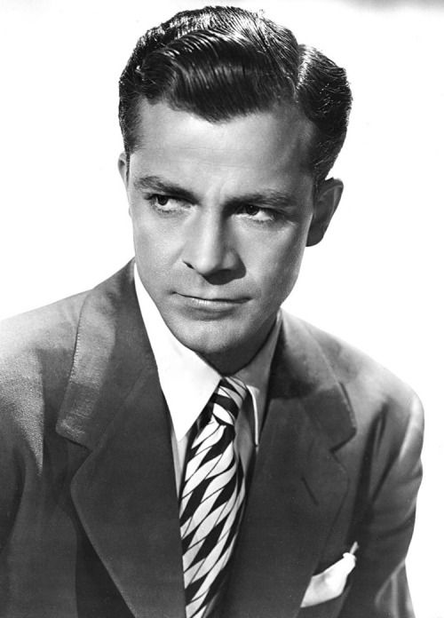 Dana Andrews in a promo shot for Laura (1944)