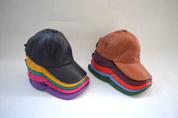 Genuine leather cap leather hat leather jockey in colours by BeFur