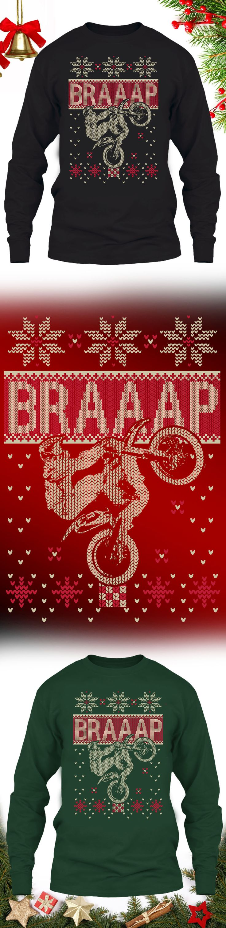 Motorcycle Christmas Sweater - Get this limited edition ugly Christmas Sweater just in time for the holidays! Buy 2 or more, save on shipping!