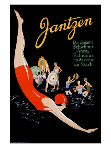 vintage swim poster