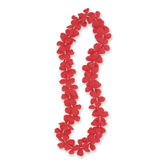 "Fabric Red Hawaiian Lei, 40"""
