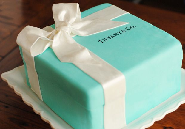 Adorable Tiffany cake! Perfect for Lexies Tiffany themed 16th birthday party!!