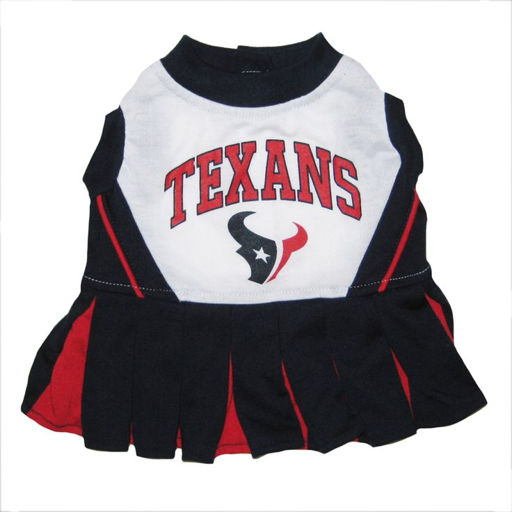 Houston Texans Nfl Football Pet Cheerleader Outfit available at HotDogCollars.com