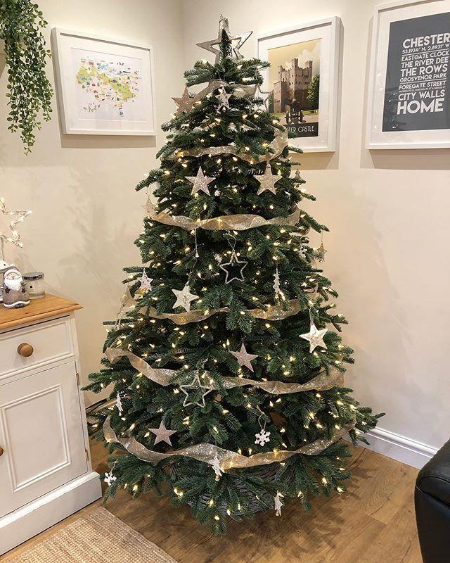 Nordmann Fir Artificial Christmas tree with built in lights! (6ft) - Nordmann Fir Artificial Christmas Tree With Built In Lights! (6ft