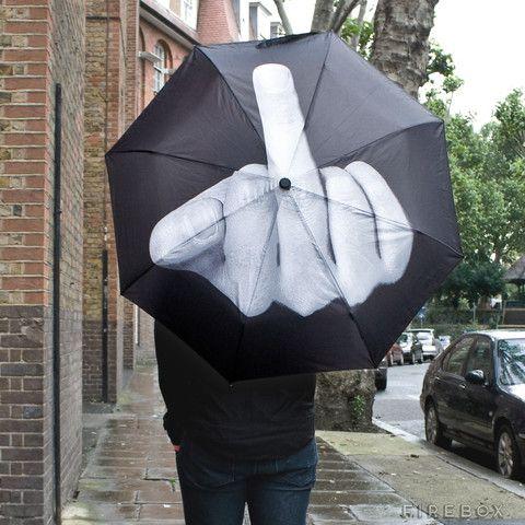 Middle Finger Umbrella Up Yours Mother Nature Umbrella Umbrella