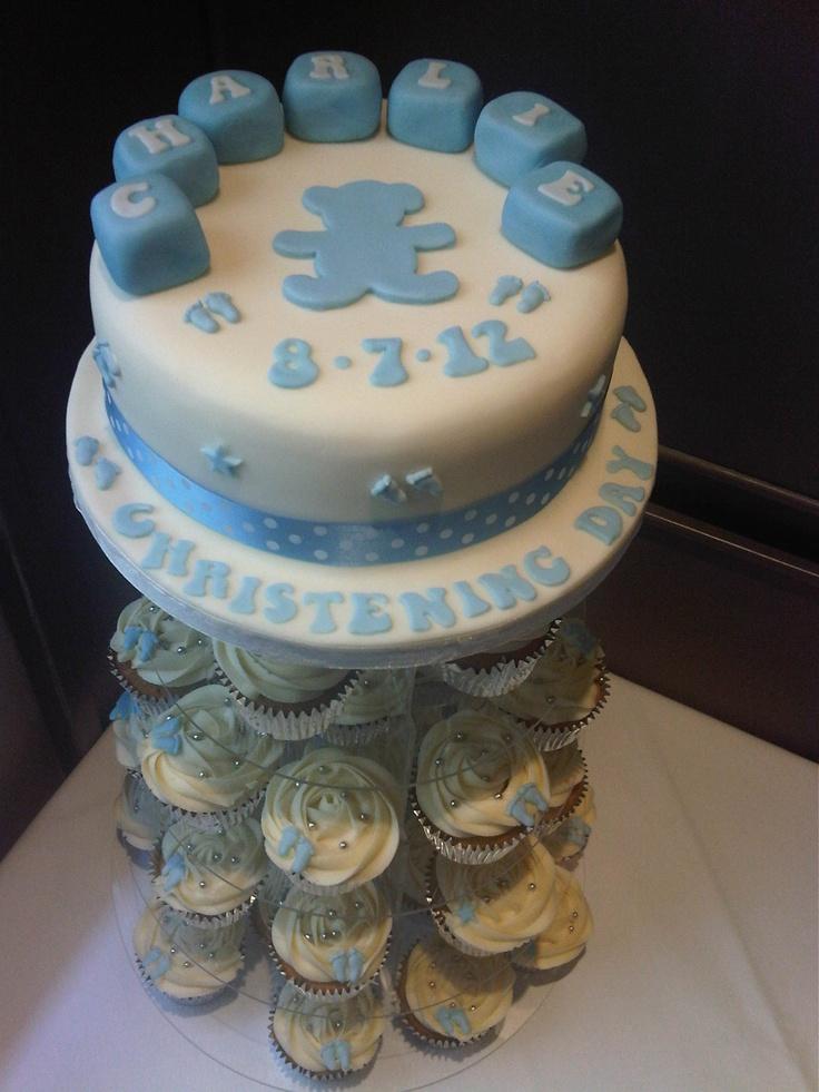 christening cake for boys