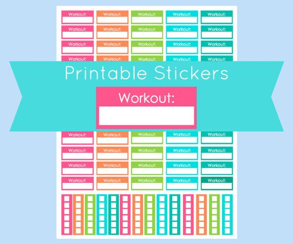 14 best stickers printable planner images on pinterest for Does staples print stickers