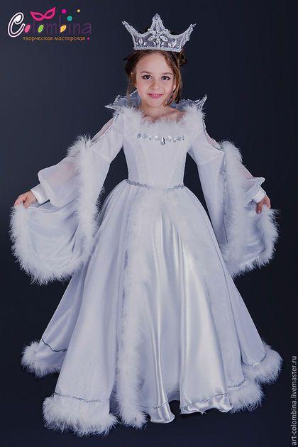 Детские карнавальные костюмы ручной работы. Заказать Костюм снежной королевы. Olga. Ярмарка Мастеров. Костюм снежной королевы, атлас