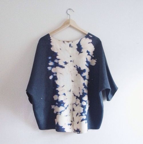dyeing with bleach pattern