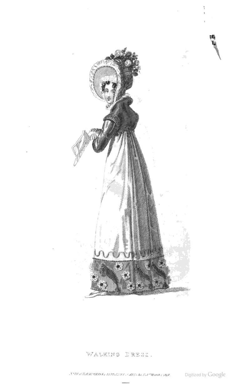 Walking Dress from Ackermann's Repository of the Arts March 1819