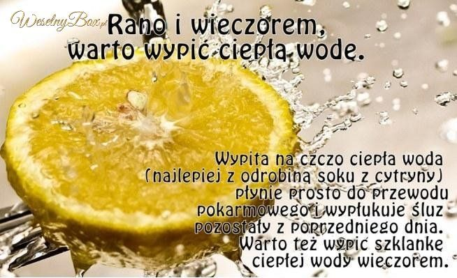 Woda z cytryną rano i wieczorem...