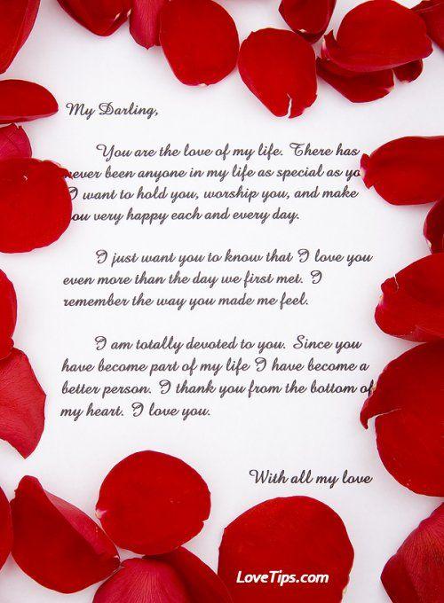 Best 25 Love letter sample ideas – Sample Romantic Love Letter