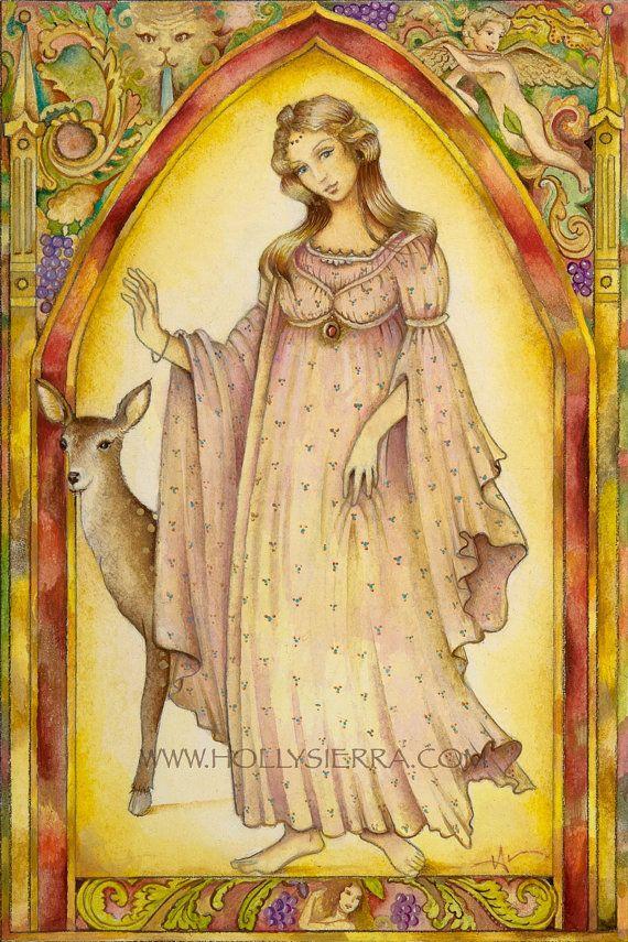 La Musa - de la crisálida Tarot Troupe de personajes medievales
