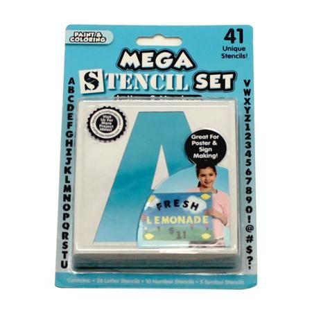 Mega Block Letter Stencil Set 41 Piece Letter Stencils