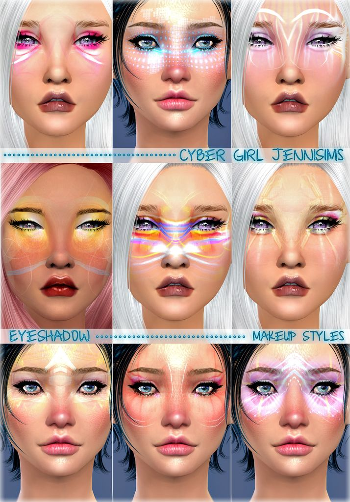 Jennisims: Downloads sims 4:Makeup Styles Cyber Girl EyeShadow Male /Female | Sims 4 Updates -♦- Sims Finds & Sims Must Haves -♦- Free Sims Downloads