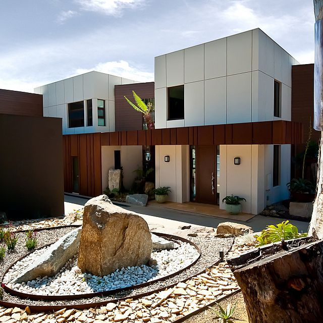 Residential entrance design by Wolf Architects, Melbourne Australia