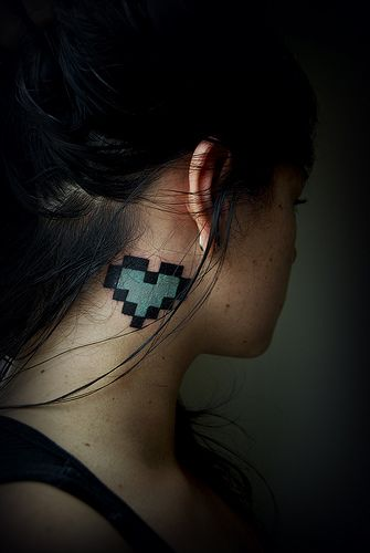blueheart  #8bit #pixel #tattoo
