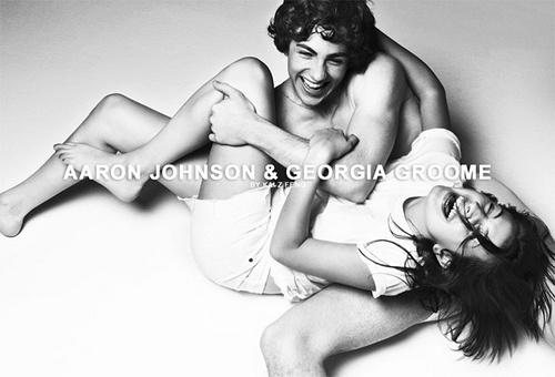 Aaron Johnson and Georgia Groome!! And yes they did date in 2008, but now he is married to a 46 year old. Gross!!