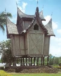 Batak house - Rumah adat, Lake Toba on the Island of Samosir.