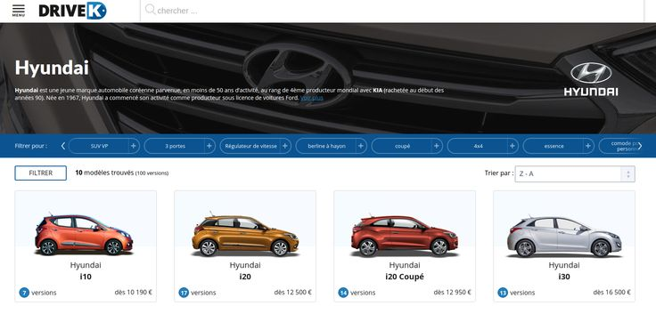 Configurez votre voiture #Hyundai sur #DriveK.  https://www.drivek.fr/hyundai/