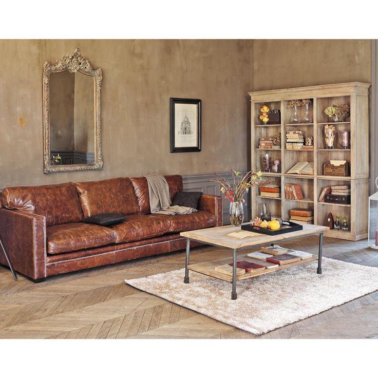 Les 25 meilleures id es de la cat gorie meubles en cuir marron sur pinterest - Bibliotheque maison du monde ...