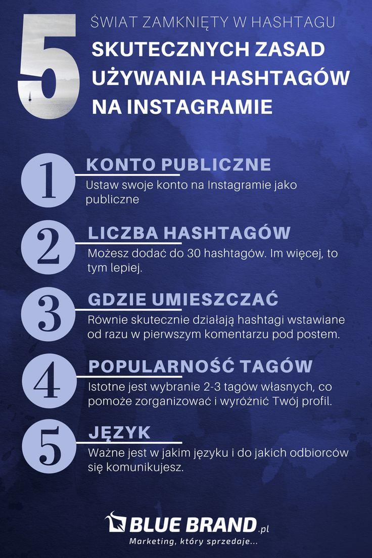 Blue Brand blog hashtagi na Instagramie