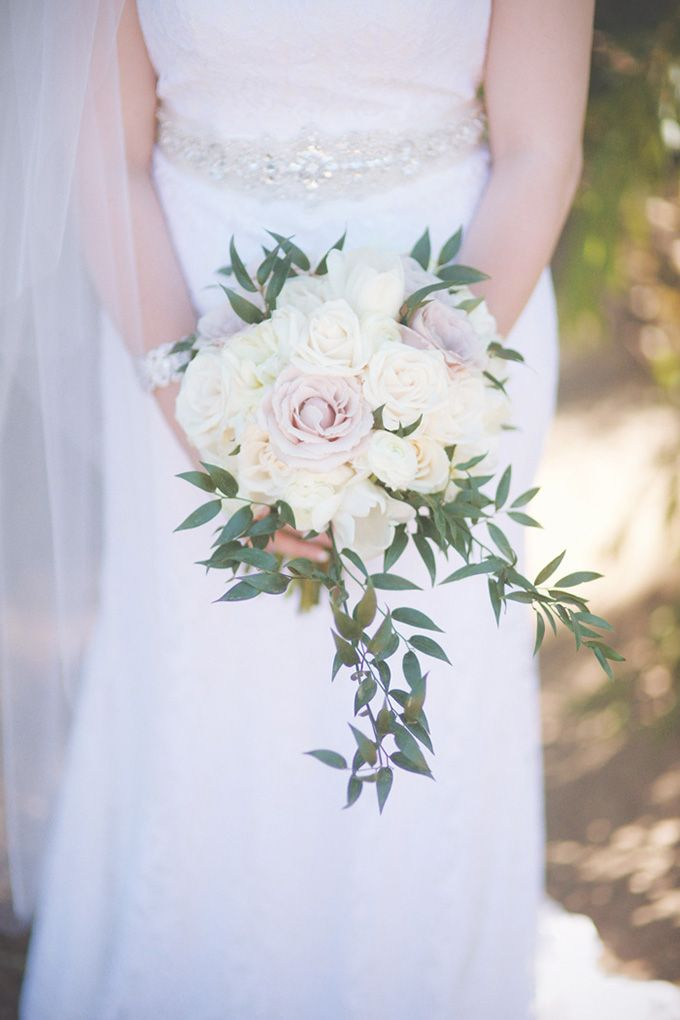 romantic pink and white bouquet | Emily Heizer Photography