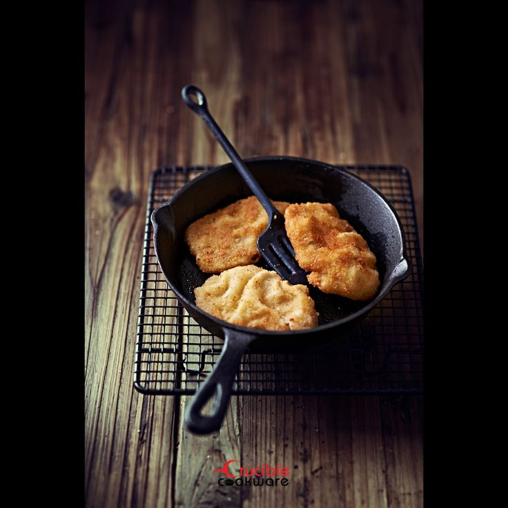 Fish in Crucible Cookware Cast Iron Skillet