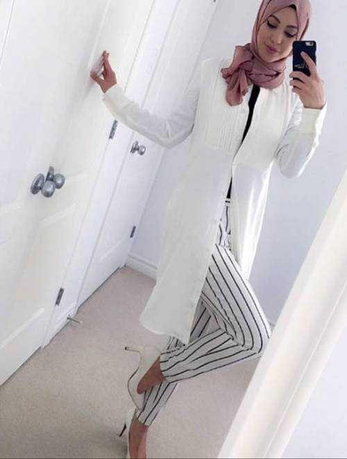 white-classy-hijab-with-pump-heels