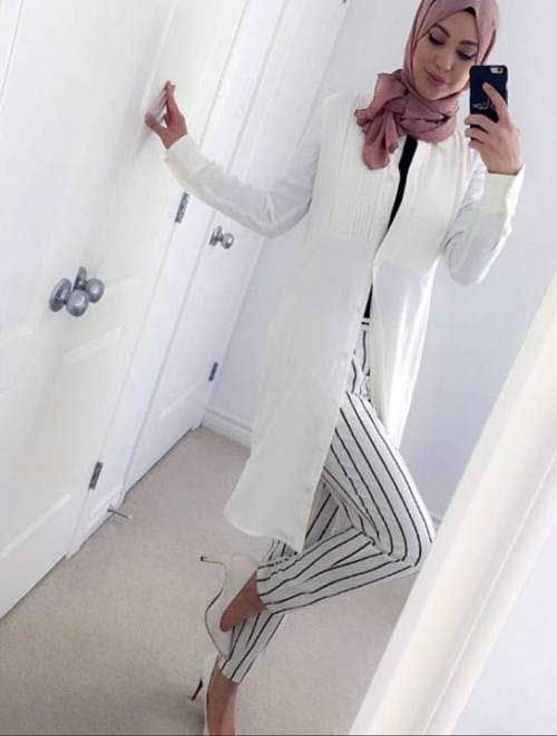 white-classy-hijab-with-pump-heels