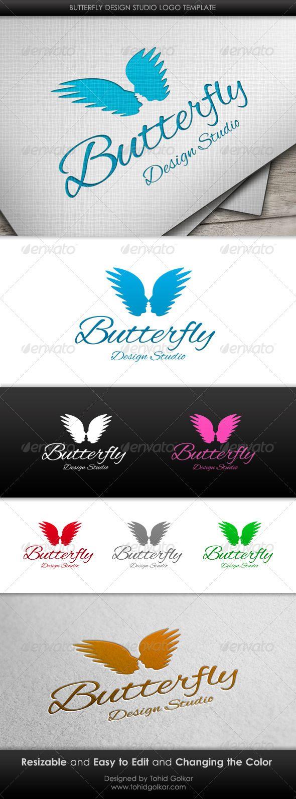 Butterfly Design Studio Logo Template