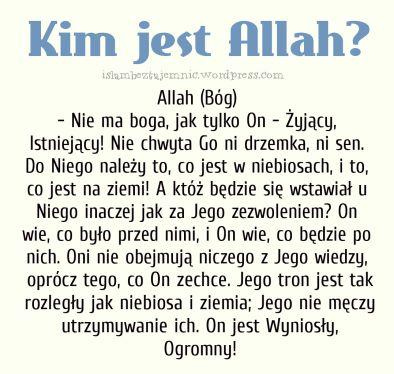 Kim jest Allah, Bog w islamie, Islam bez tajemnic, islam po polsku