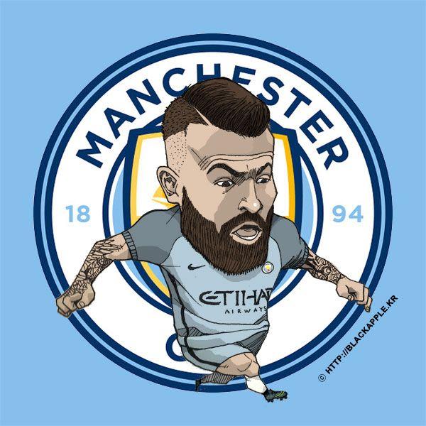 Manchester City No.30 Nicolas Otamendi Fan Art