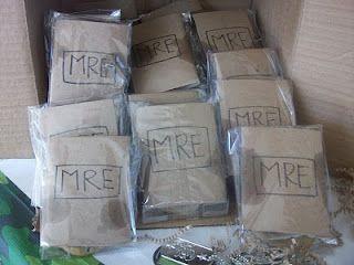 MREs - homemade choc chip cookies inside
