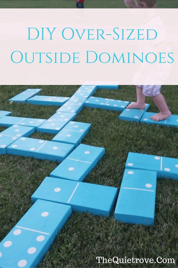 DIY Oversized Outdoor Dominoes