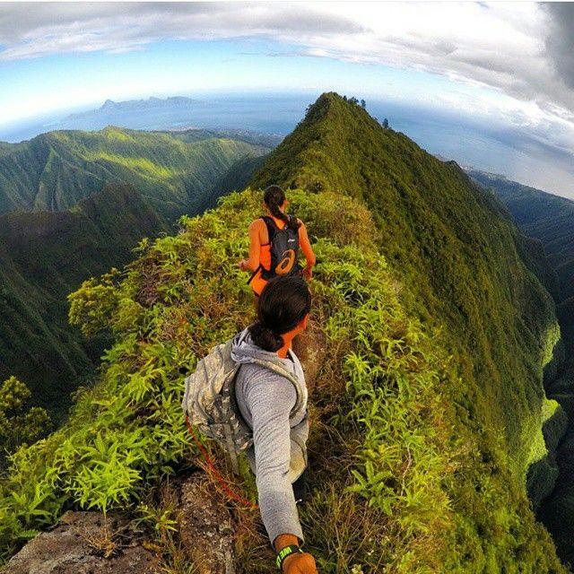 Breathtaking scenery! Hiking Mount Aorai in Tahiti.