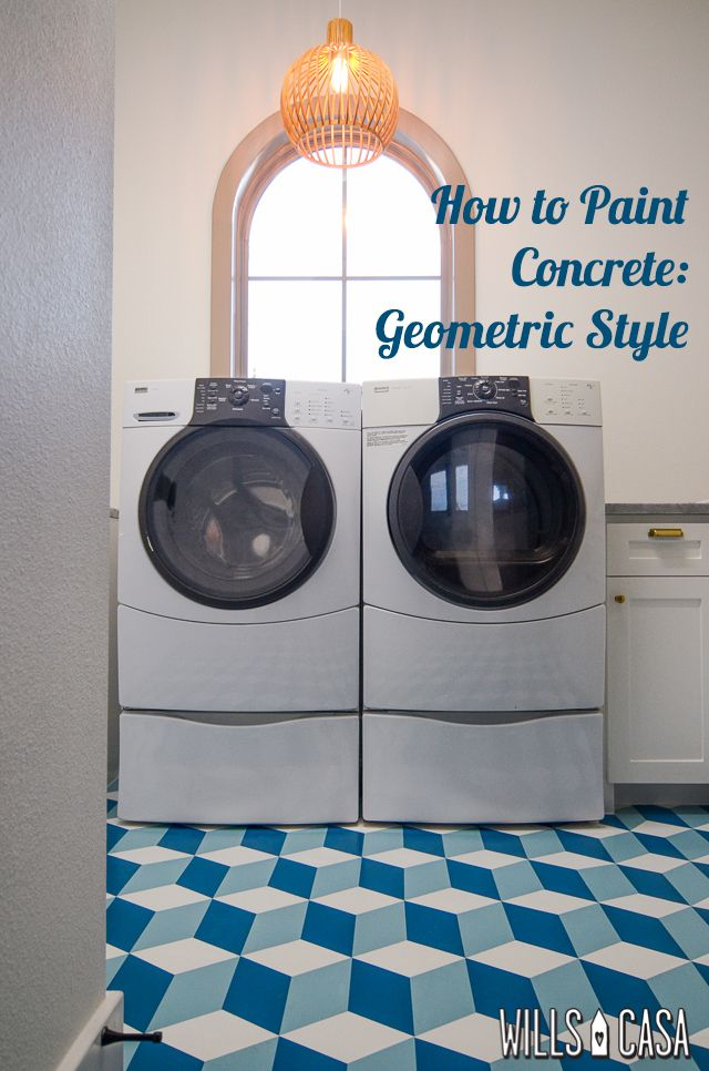 How to paint a fabulous geometric style floor by Amber at Wills Casa