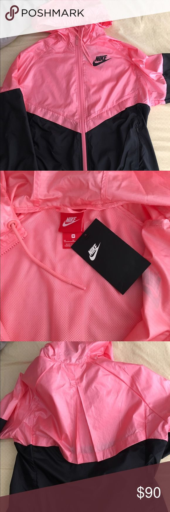 pink nike windbreaker BRAND NEW!! Tags still on! light material. If u have any questions please ask!! Make me an offer!! Nike Jackets & Coats
