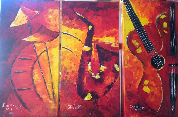 Oil painting - with instruments we will glorify Him