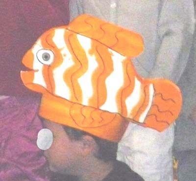 fabriquer un chapeau de poisson animaux marins pinterest. Black Bedroom Furniture Sets. Home Design Ideas