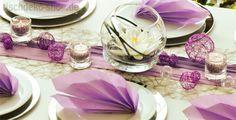 Tischdeko Hochzeit Flieder/Wackelvase