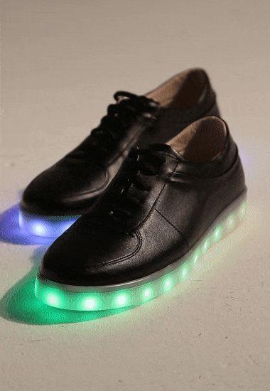 SPOR AYAKKABI Disco Siyah Multicolur Işıklı Taban Spor Ayakkabı